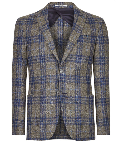 Elray Taupe/Blue Tri-Window Pane Jacket