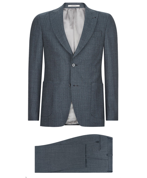Elvern-Clay Navy Herringbone Suit