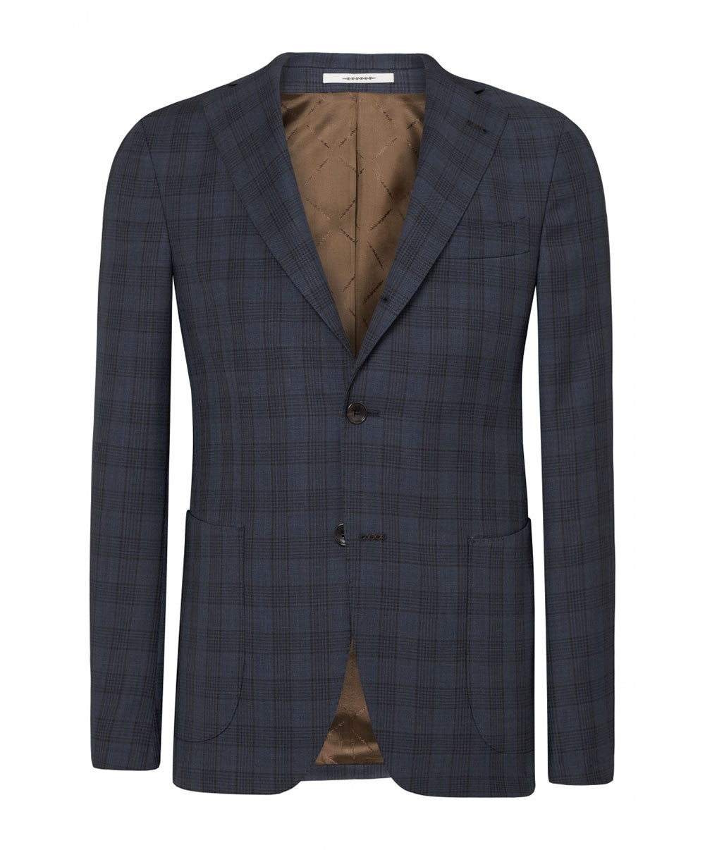 Elwyn Split Navy/Cobalt Blue Glen Check Separate Jacket