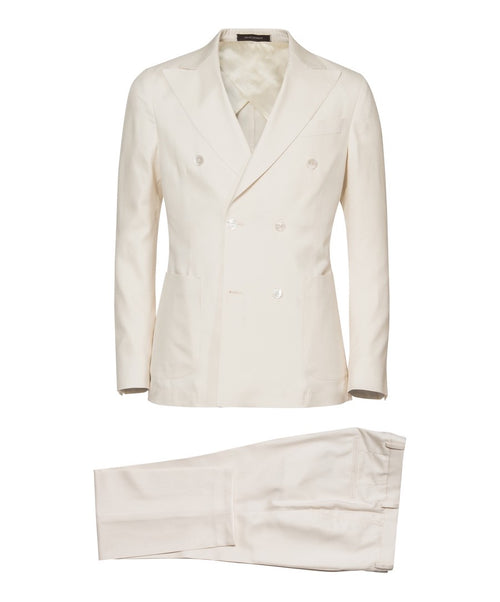 Erik White Unconstructed Solid Double Breasted Suit