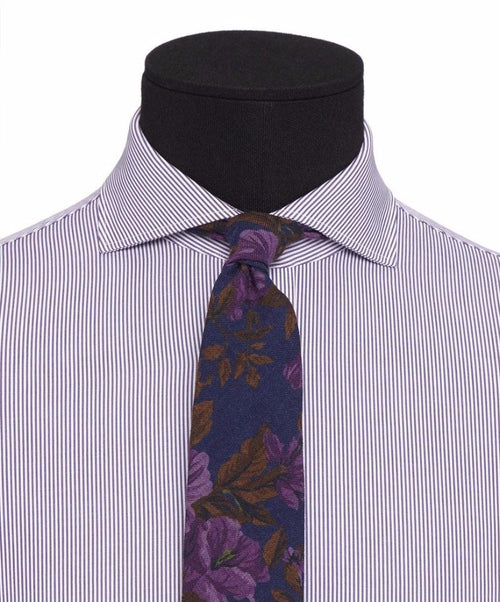 Extreme Eggplant Bengal Stripe Dress Shirt
