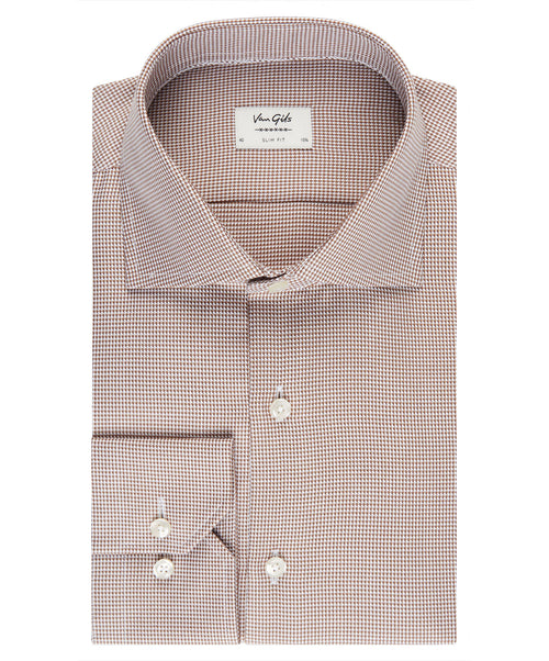 Ellington Carmel Micro Neat  Dress Shirt
