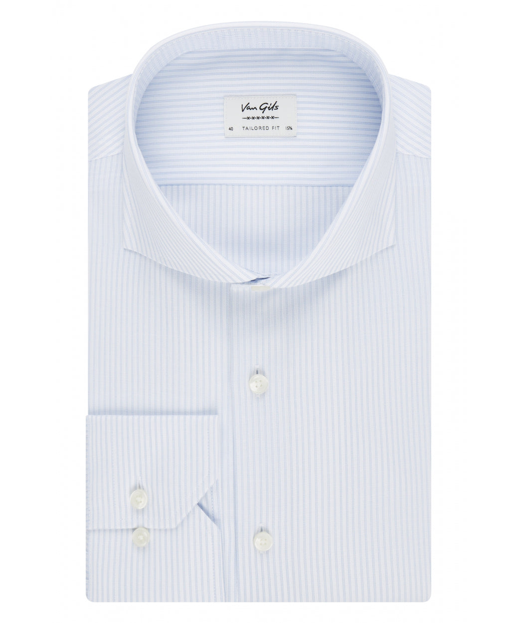 Extreme Ice Blue Tonal Fine Dual Stripe Dress Shirt