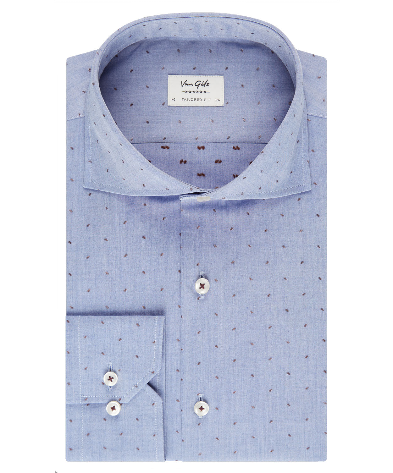 Extreme Blue/Tabacco Sparce Contrast Dress Shirt