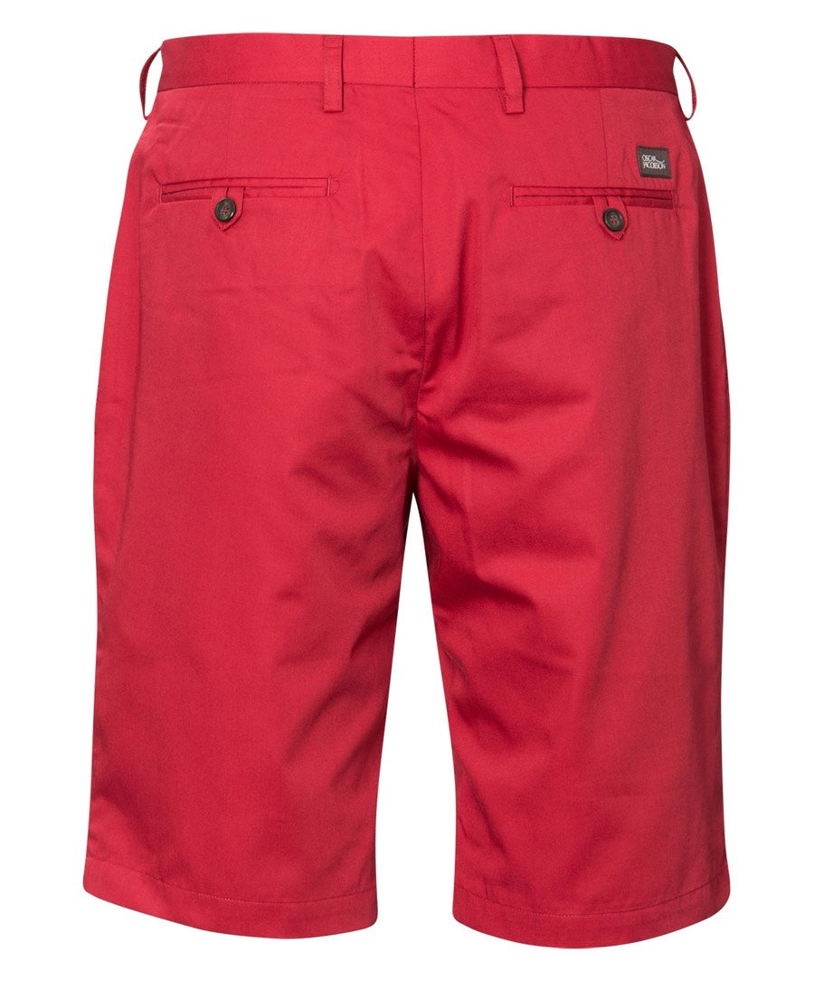 Gaston Bright Red Solid Shorts