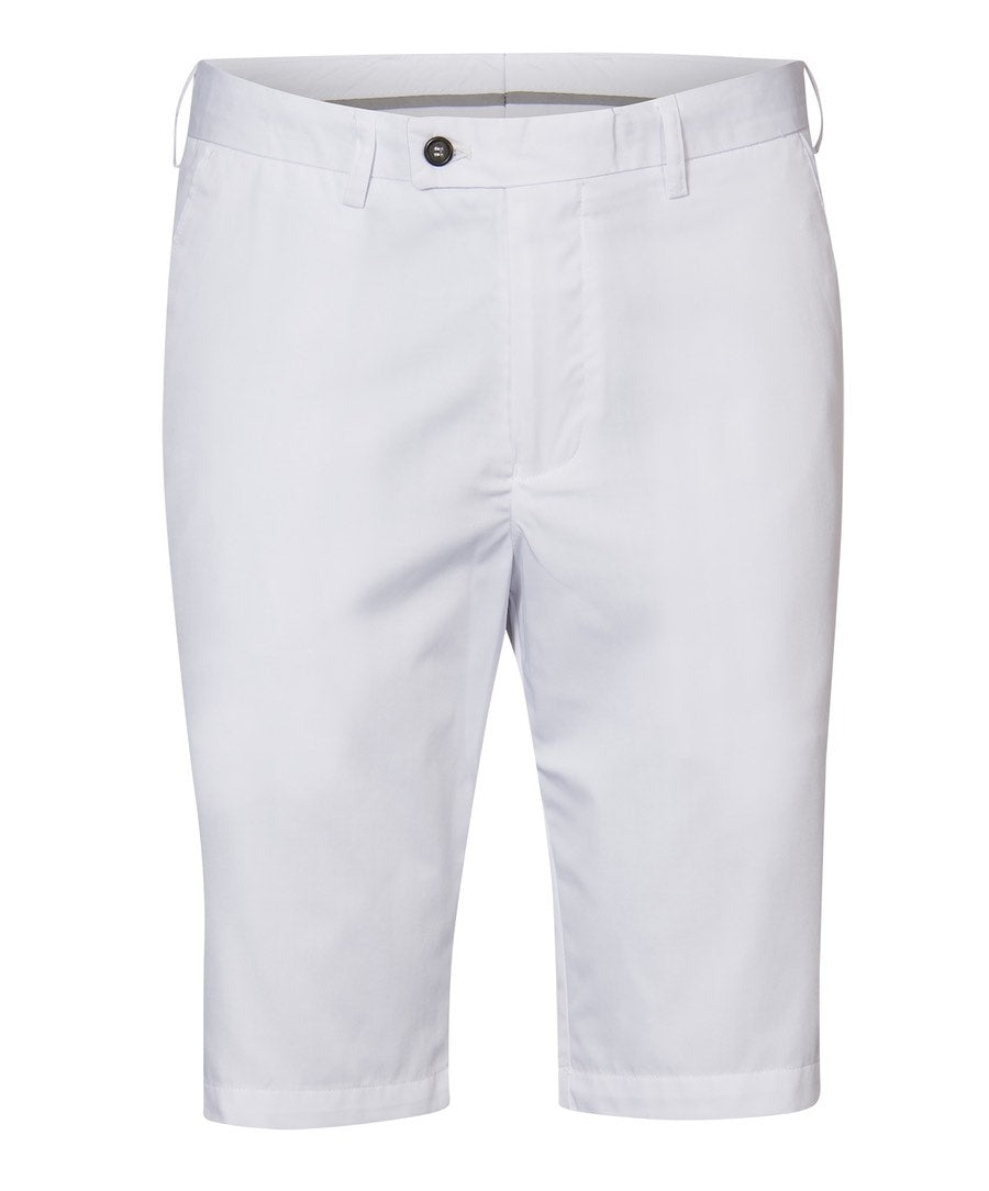 Gaston White Solid Shorts
