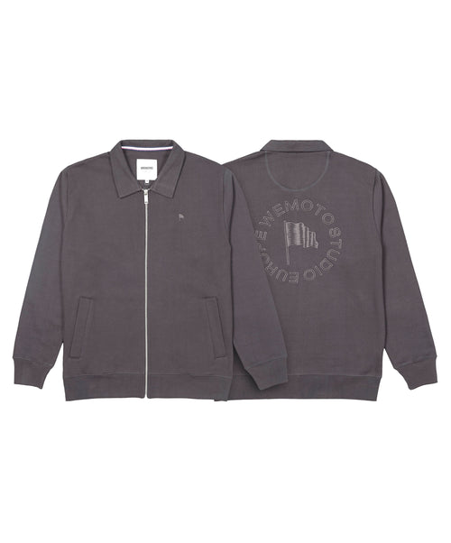 Gates Charcoal Full Zip Sweater