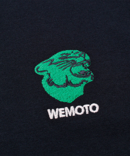 Gavin Tee Navy With Wemoto Chest Logo Tee Shirt