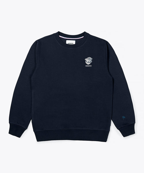 Gavin Crew Navy Crew Neck Sweater
