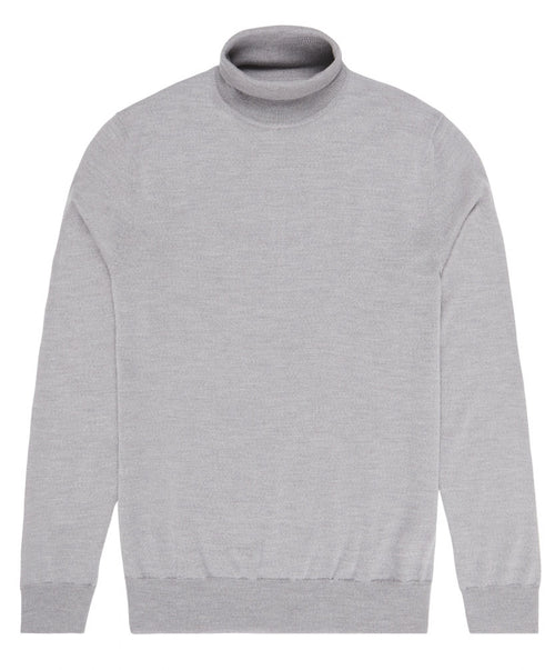 Glen Light Grey Turtle-Neck Sweater