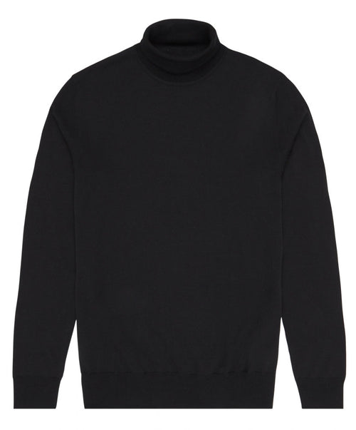 Glen Black Turtleneck Sweater
