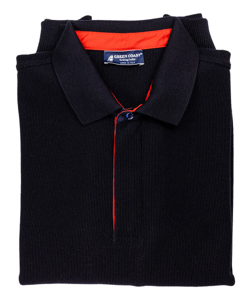 422 Navy 3/4 Zip Knit w/Collar
