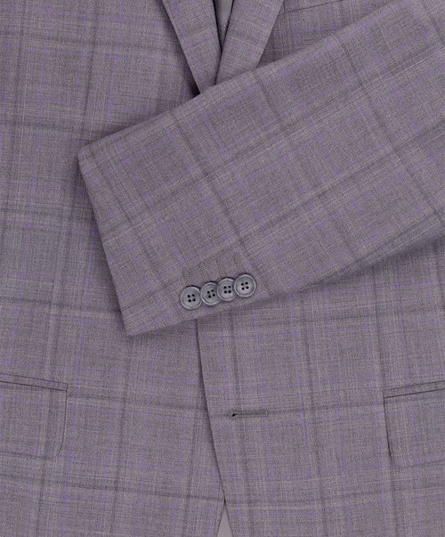 Grey/Mauve Soft Window Pane Suit