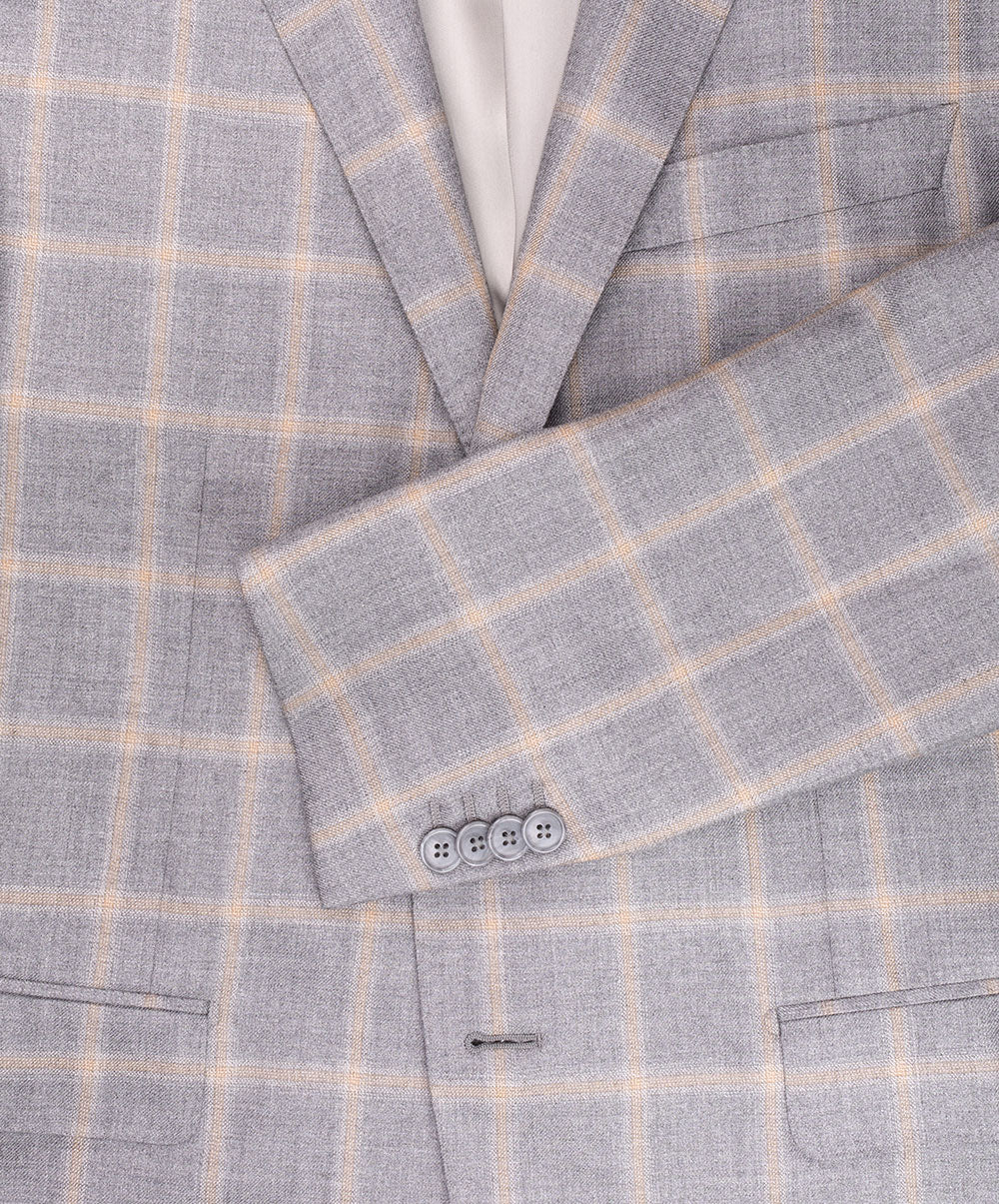 Rum/Caramel/Grey Large Blended Window Pane Sport Jacket