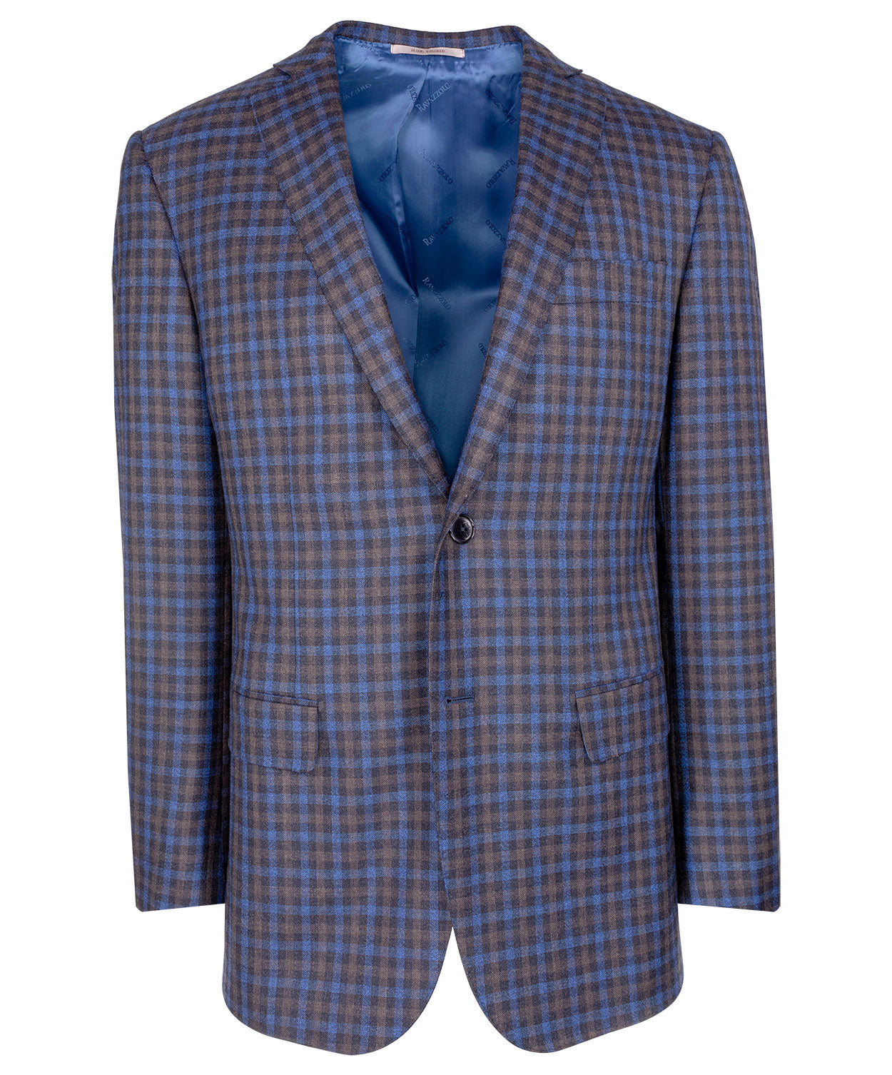 Navy/Earthy Grey Blended Tonal Gingham Sport Jacket