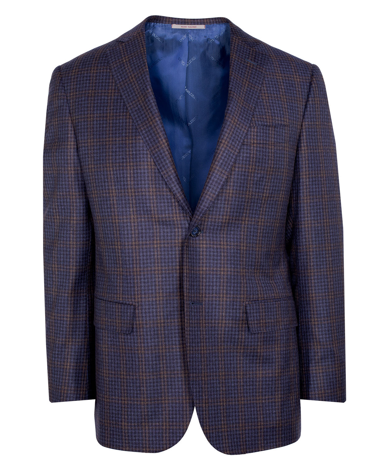Blue/Caramel/Charcoal Lofty Blended Check Jacket