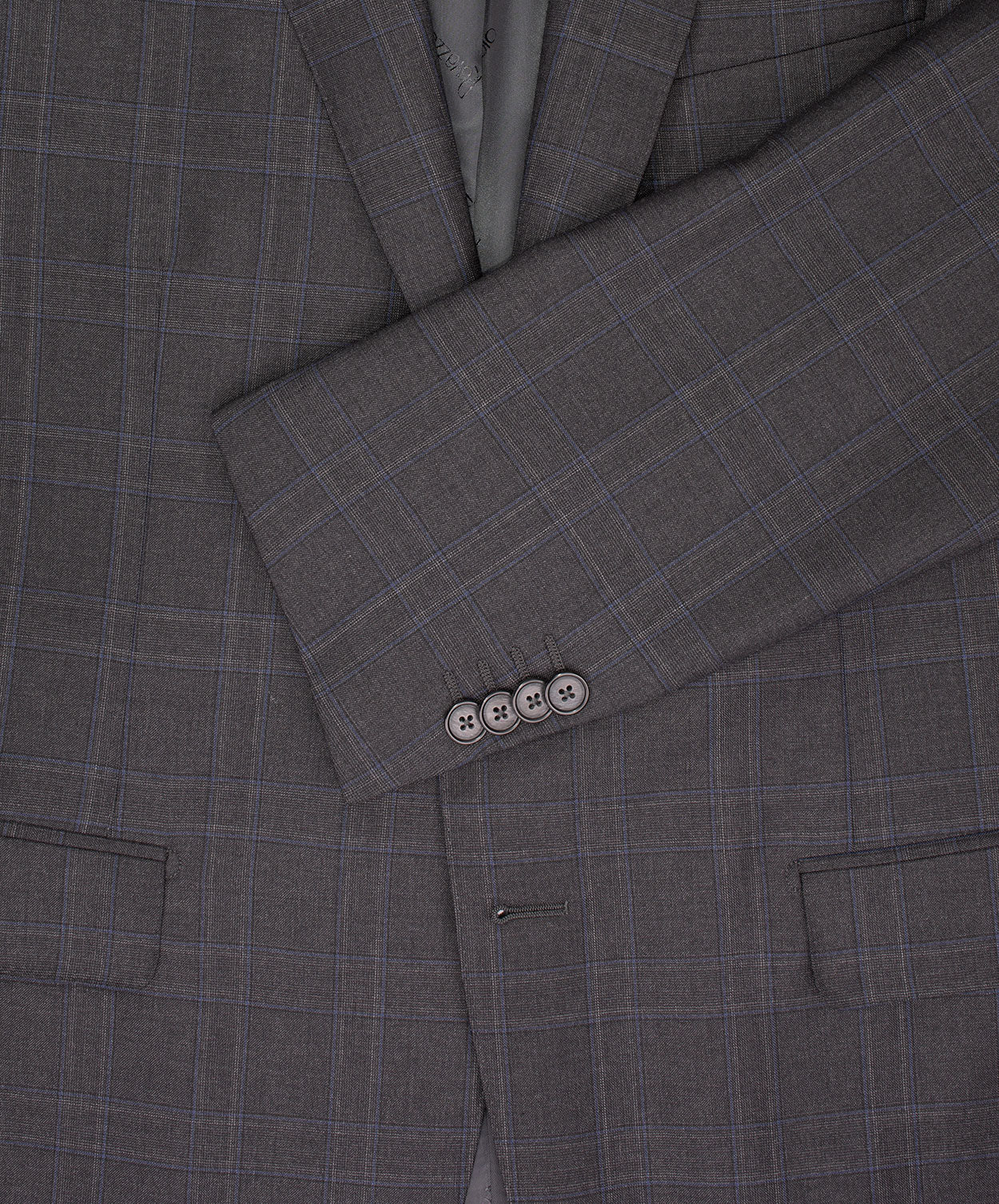 Dark Grey/Blue Sohpisticated Check Suit