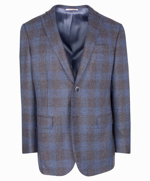 Blue/Grey Luxury Tonal Tweed Jacket