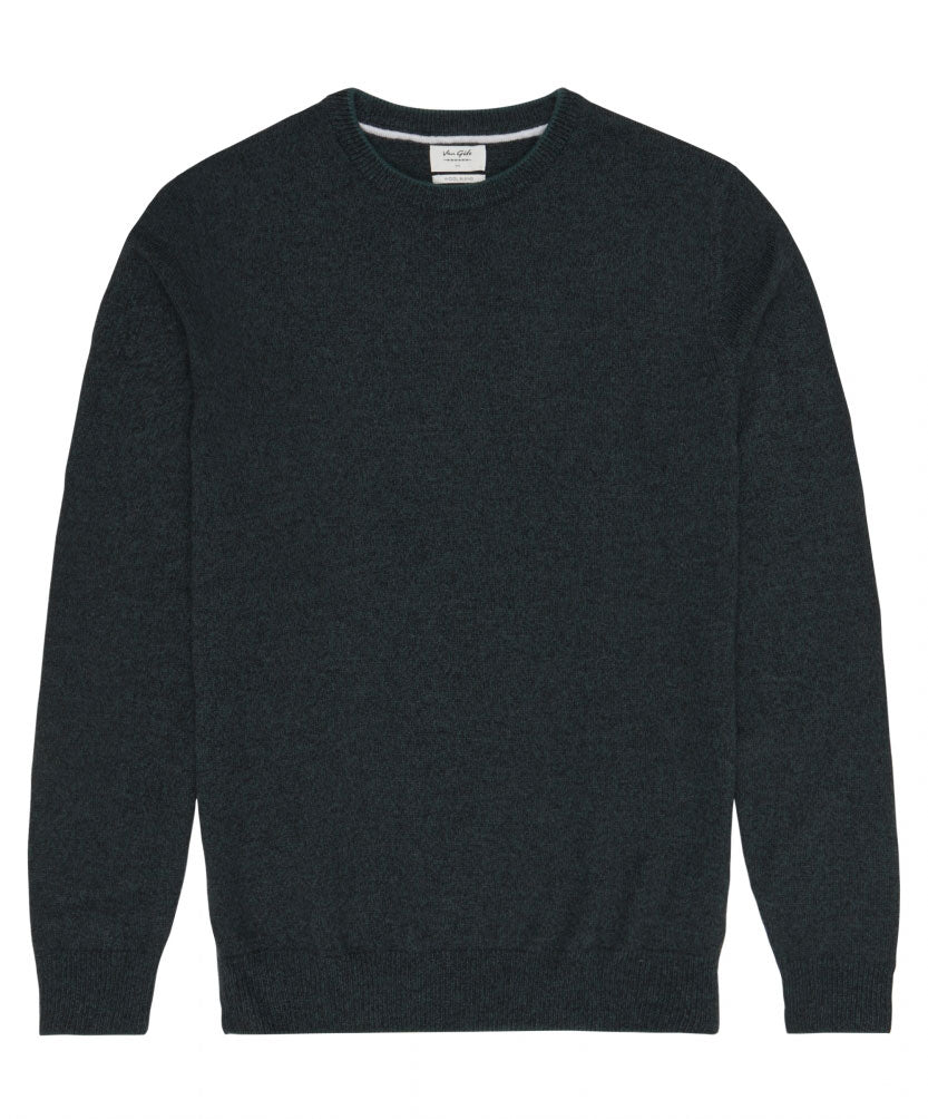 Harry Dark Green Crew-Neck