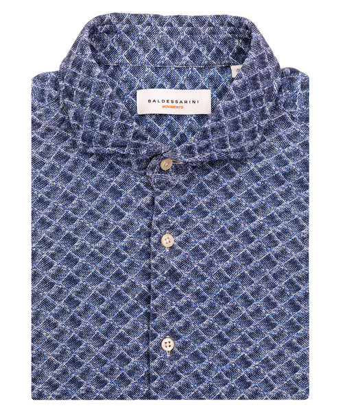 Henry M Navy/Blue Jersey Shirt