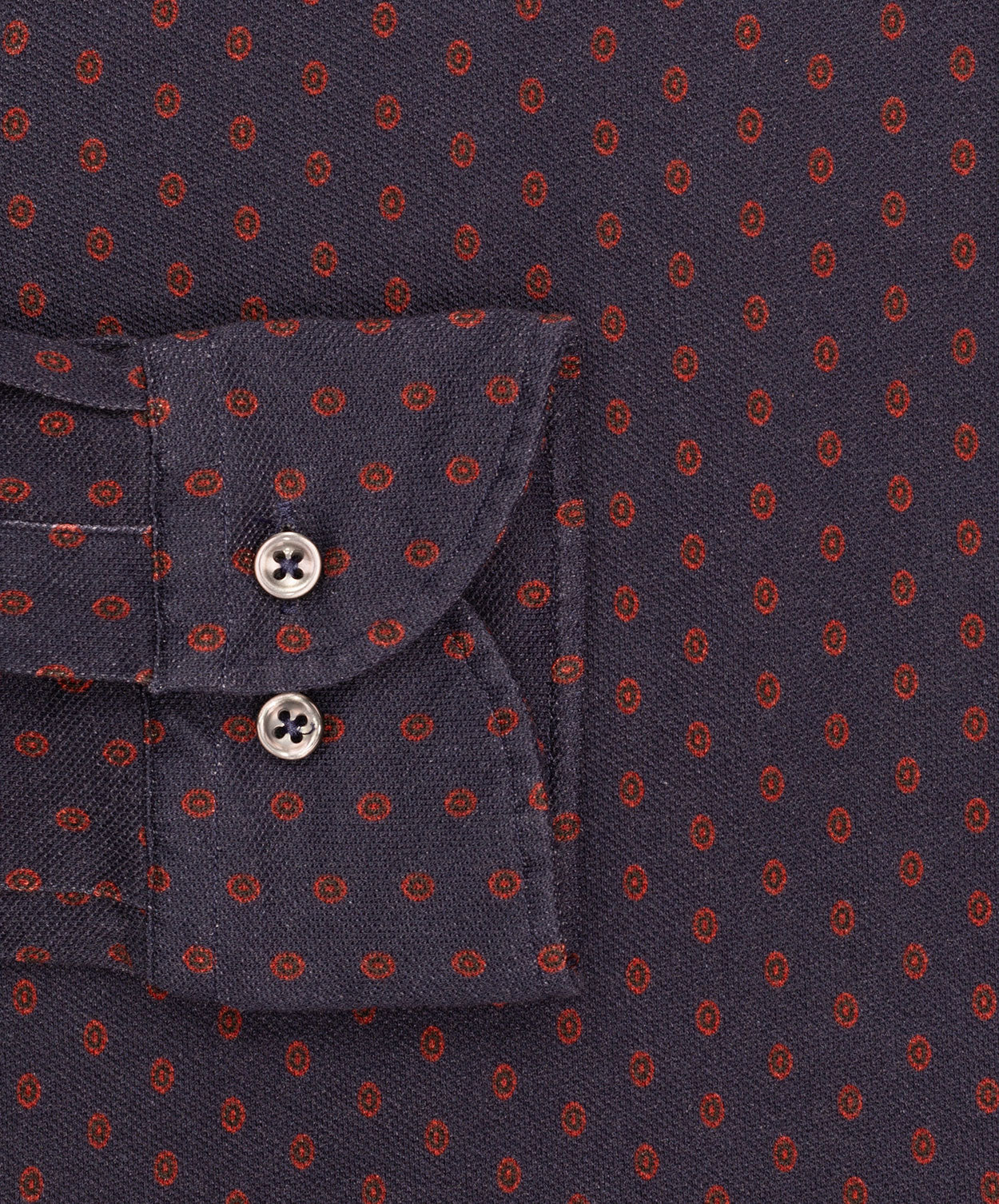 Henry Carbon/Camel/Wine Dark Ground Dotted Print Jersey Shirt