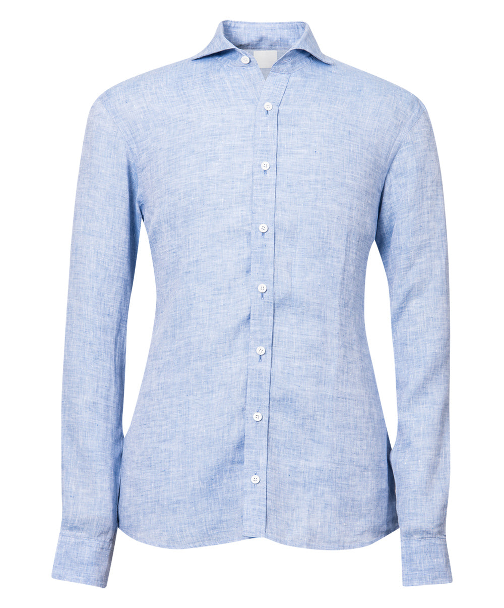 Herman Sky Blue Washed Effect Sport Shirt