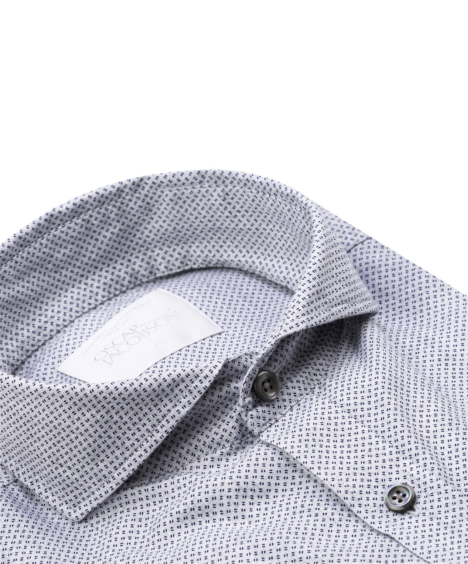 "Herman Sky Blue Micro ""Quotation"" Pattern Sport Shirt"