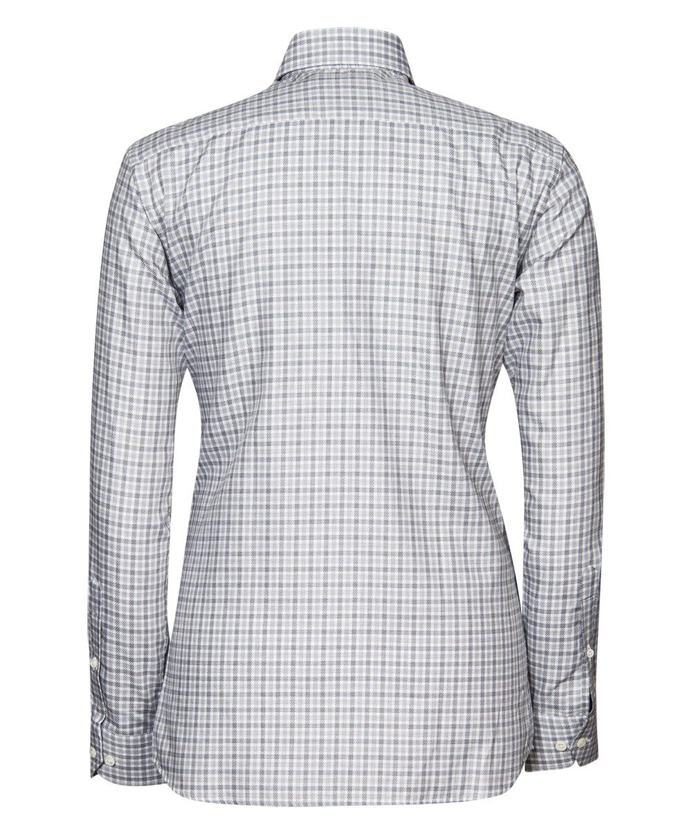 Herman Light Grey/Medium Grey/White Check Pattern Dress Shirt