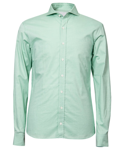 Herman Mint Hi-Colored Solid Broadcloth Dress Shirt