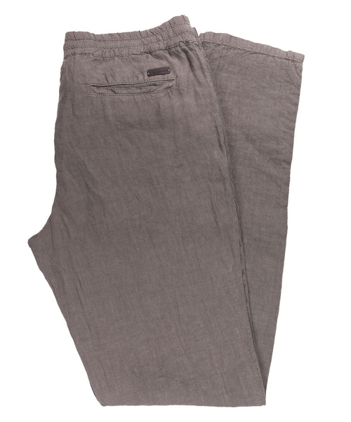 House Military Green Linen Leisure Pant