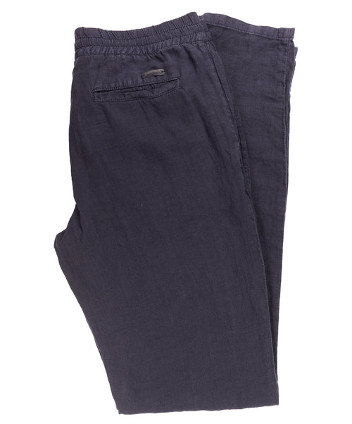 House Navy Linen Leisure Pant