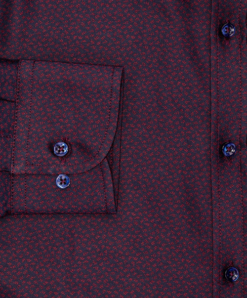 Navy/Red Mini Flower Sport Shirt