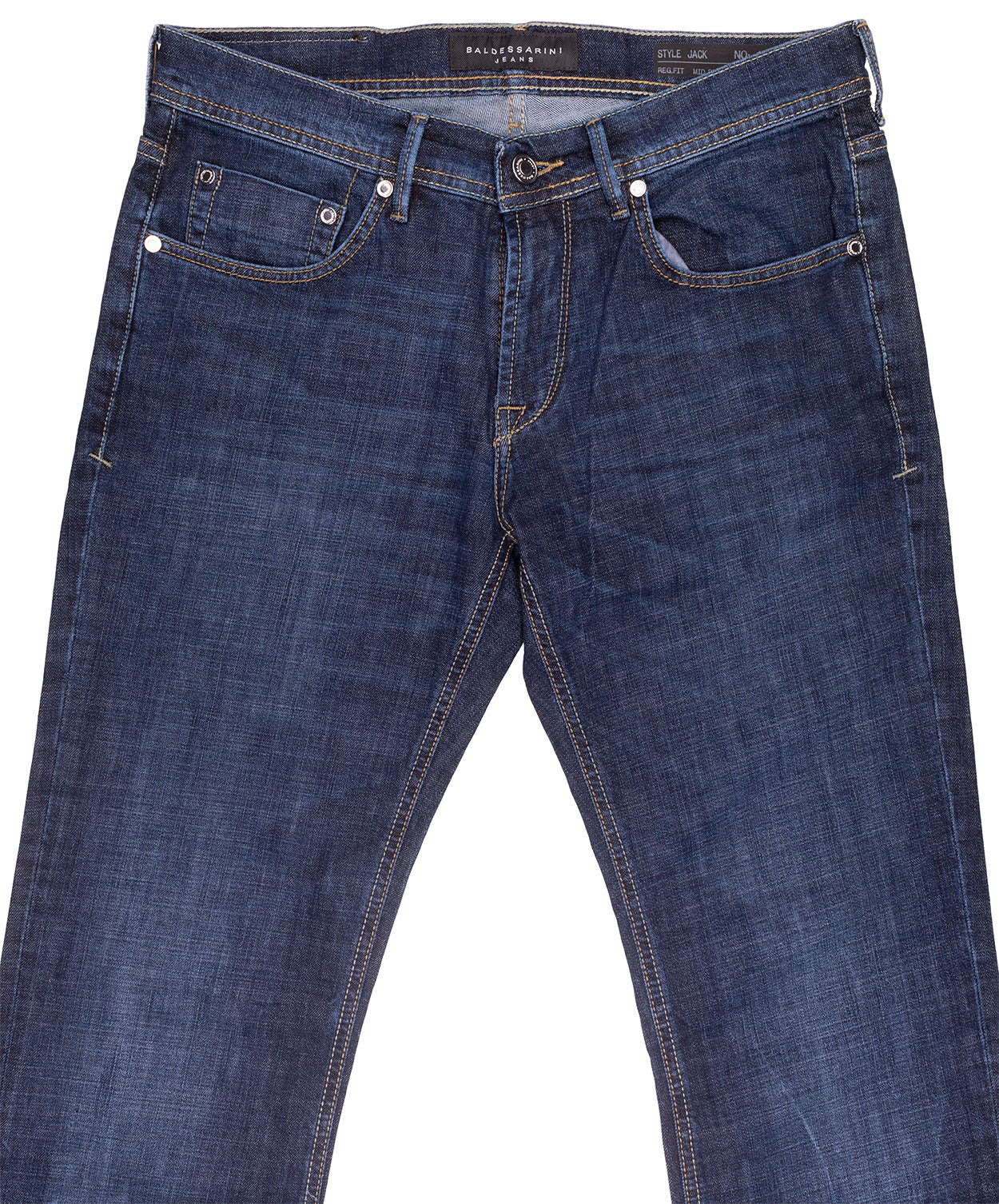 Dark Blue Lightly Washed Jeans