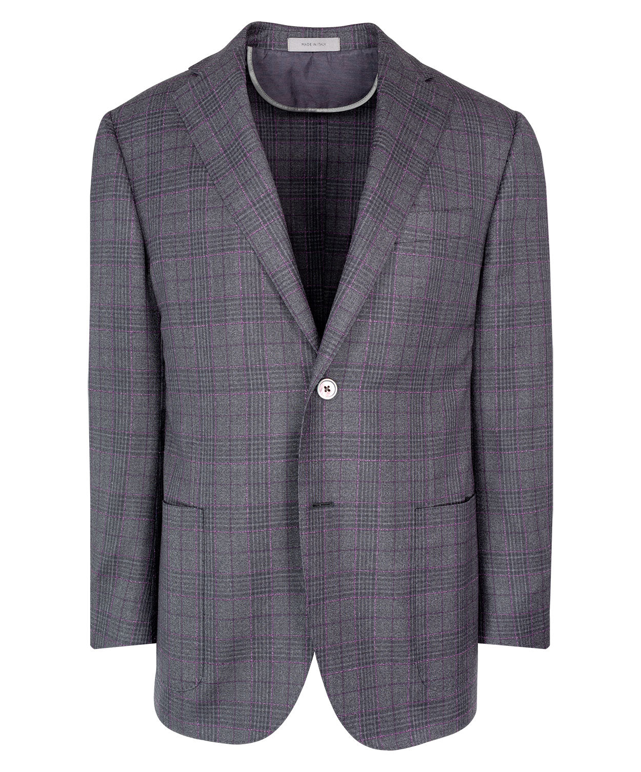 Leader Grey/Rose 3D Optic Sophisticated Glen Check Sartorial Jacket