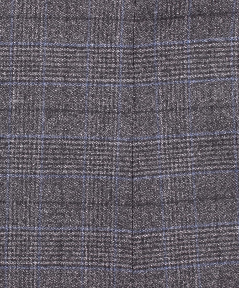 Madeira Mid Grey/Blue Glen Check Dress Pant