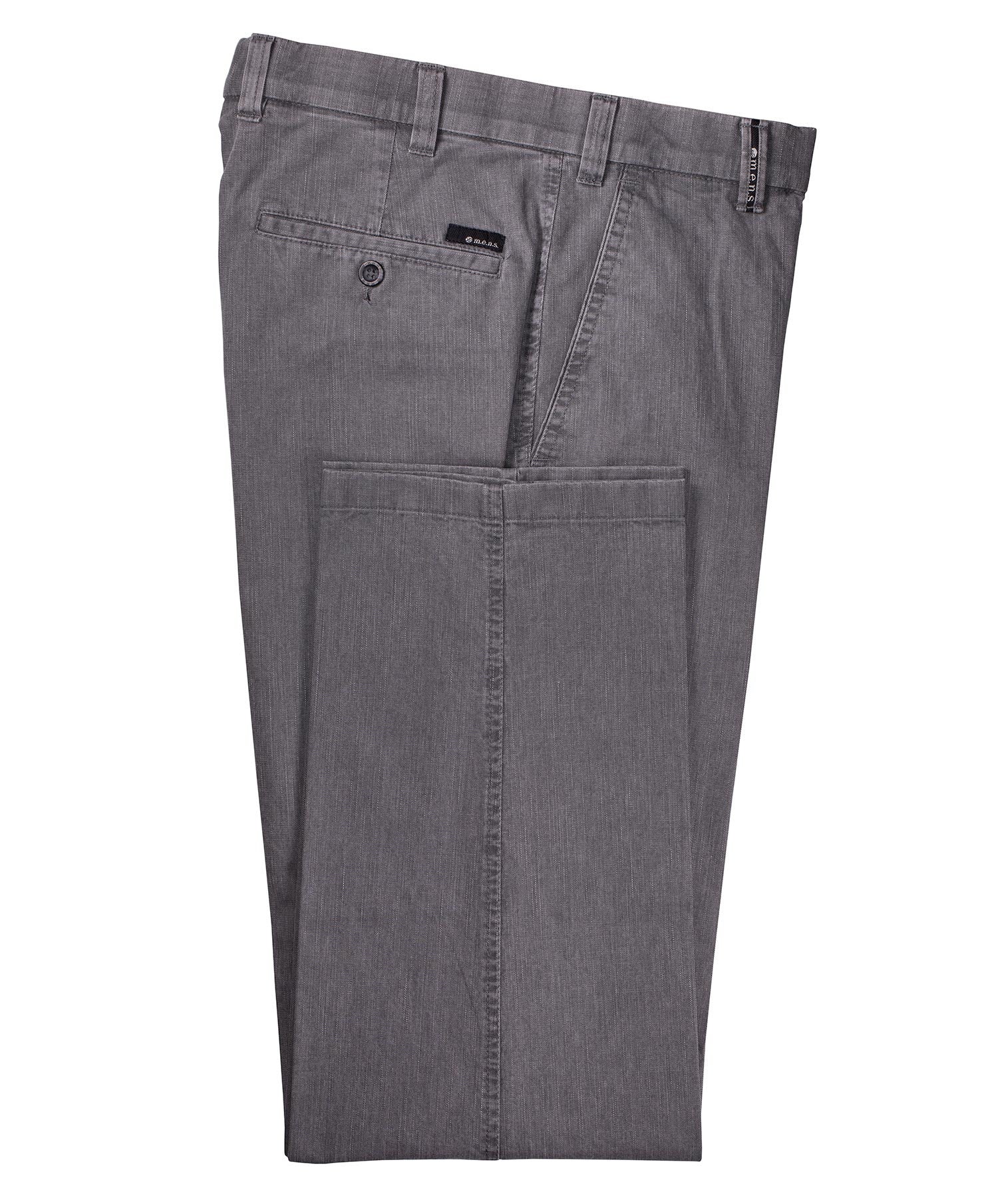 "Madrid Striated Grey ""Denim Feel"" Trouser"
