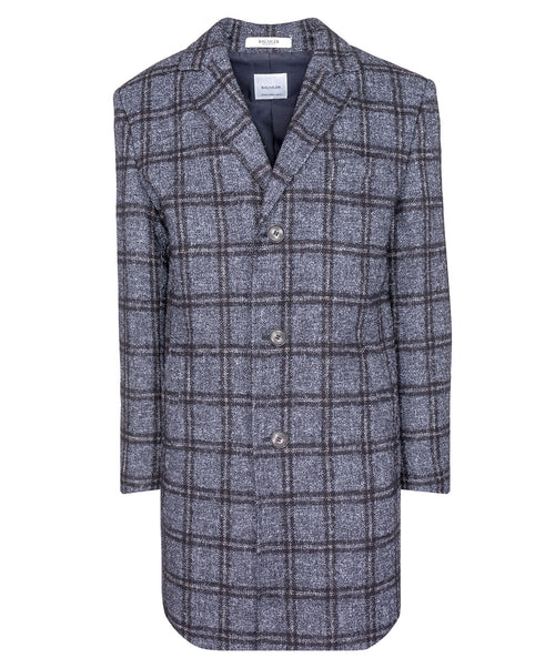 Malcom Grey/Brown Glen Check Coat