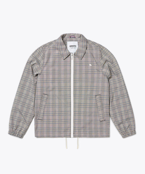Marcus Beige Plaid Full Zip Jacket