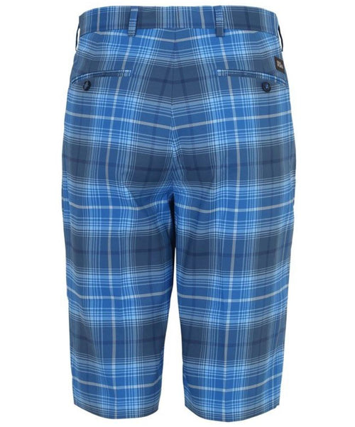 Marky Cobalt/Blue/Grey Check Pattern Shorts