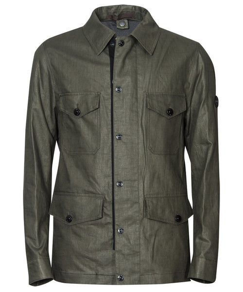 Milo Loden Green Textured Safari Jacket