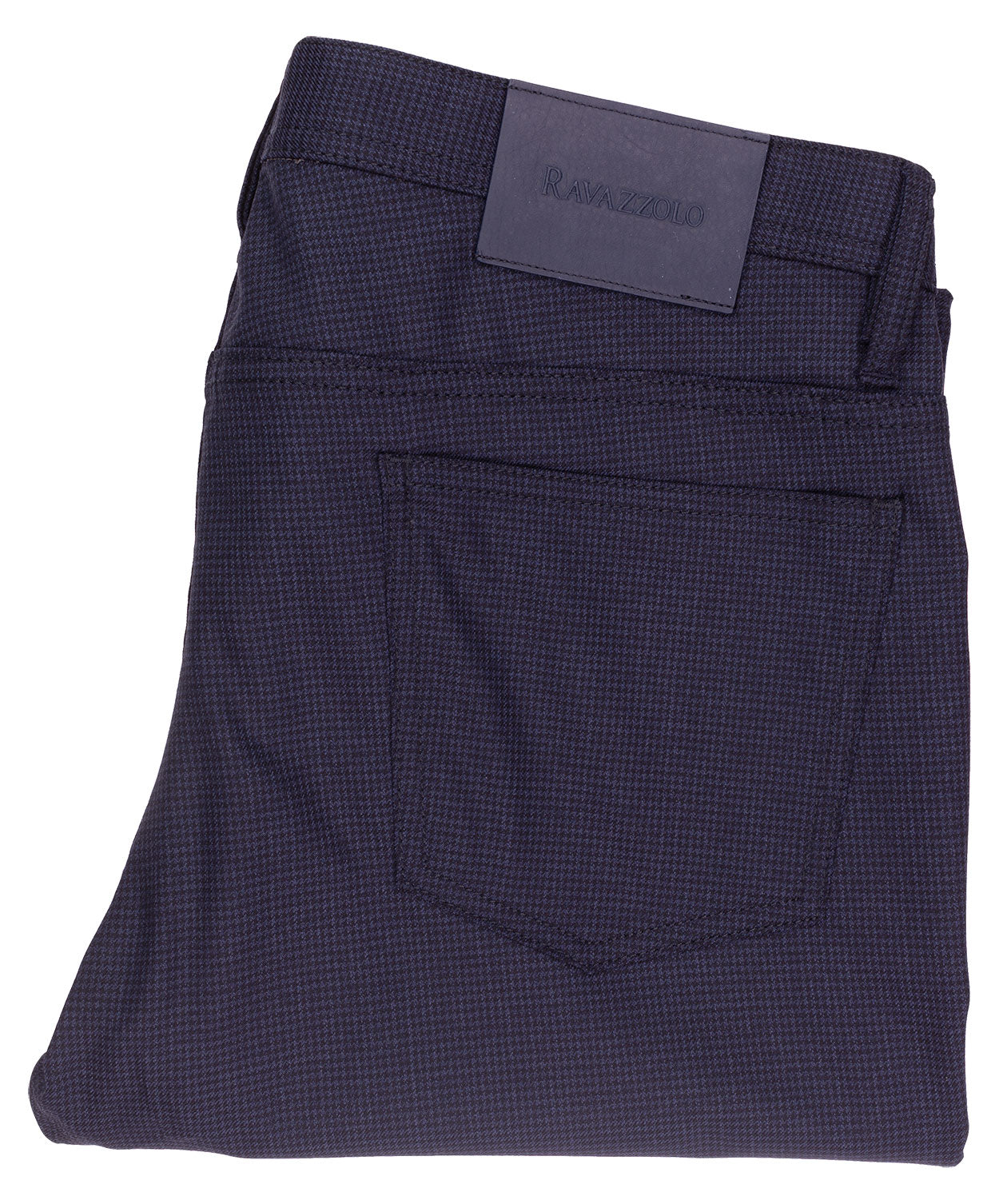 Navy Mini Houndstooth Leisure Pant