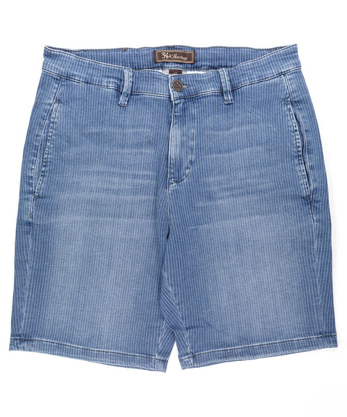 Nevada Blue Striped Sporty Shorts