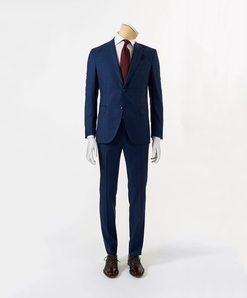 Owen-Paul Navy Shadow Window Pane Suit