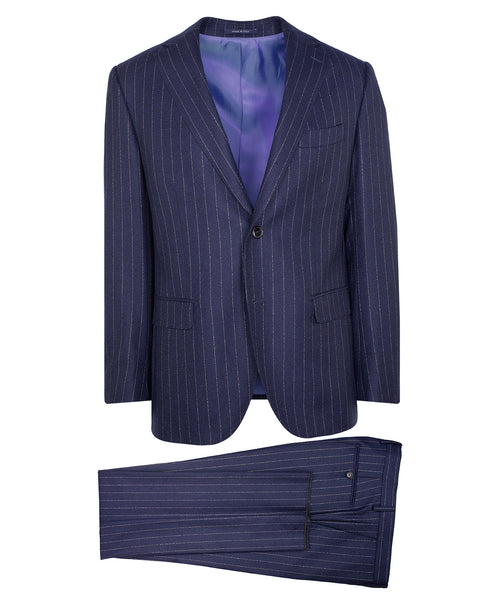 Owen Bold Broken Stripe Navy Suit