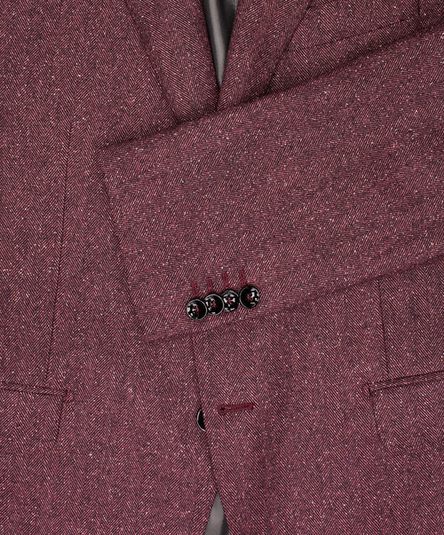 Owen Wine Rose Herringbone Jacket