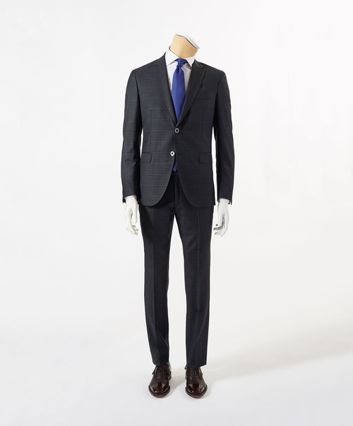 Owen-Paul Dark Grey Shadow Window Pane Suit