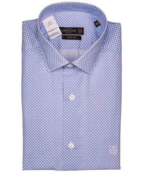 Blue/White Polka Dot on Dark Ground Shirt