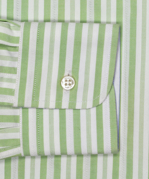 Green/White Striped Dress Shirt