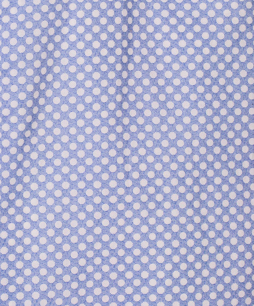 Blue/White Polka Dot on Dark Ground Sport Shirt