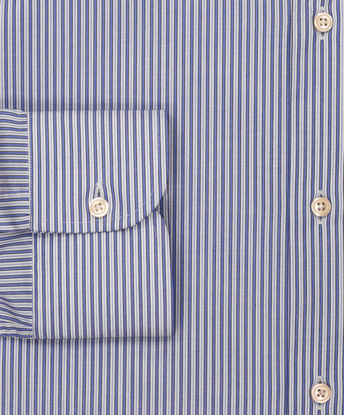 P70W735 80563-03 Blue/Dove Mid Ground Light Dual Stripe Stretch LS Dress Shirt